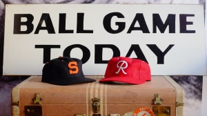Ballcaps from the Padres and Seattle Rainiers PCL days.