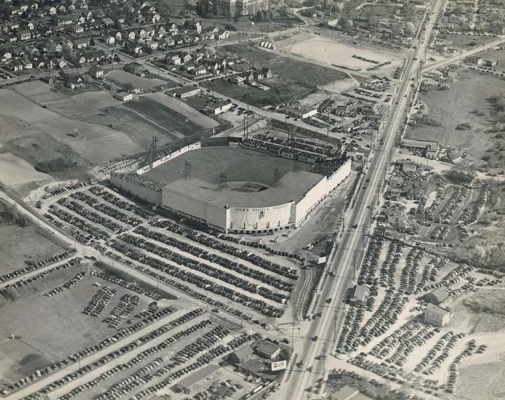 Sick's Stadium, Seattle WA Teams housed: Seattle Rainiers (1938-1968), Seattle Steelheads (1946)